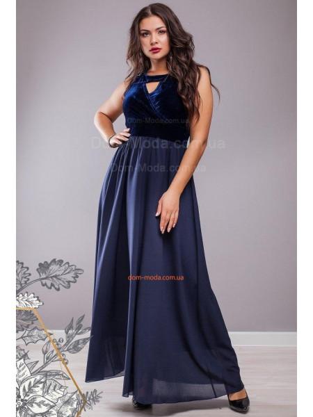 Вечірнє максі плаття без рукав великого розміру