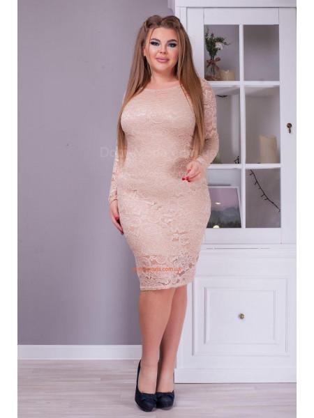 Вечірня гіпюрова облягаюча сукня великого розміру