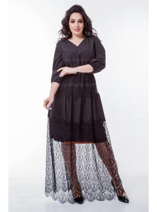 Жіноча вечірня сукня із гіпюром для повних