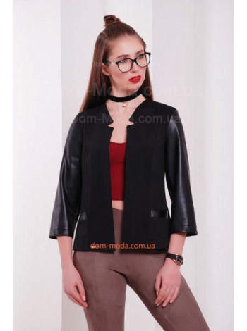Женская кофта пиджак с укороченным рукавом