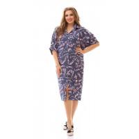 Летнее платье платье рубашка большого размера
