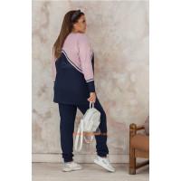 Коротке літнє плаття із вишивкою великого розміру