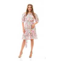 Женское летнее платье с открытыми плечами и рукавом большого размера