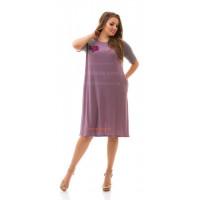 Повсякденне жіноче плаття вільного крою великого розміру