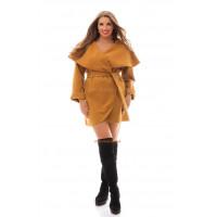 Стильный кашемировый кардиган пальто большого размера