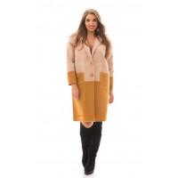Женское легкое кашемировое пальто без подкладки батального размера