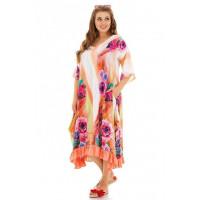 Вільне різнобарвне плаття для пишних дівчат