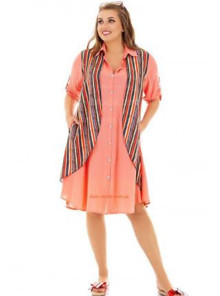 Короткое платье летнее для полных женщин