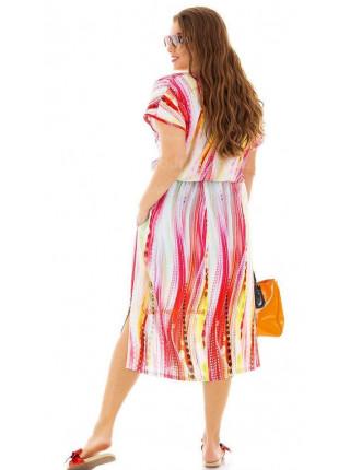 Летнее платье большого размера за колено