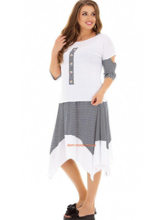 Женский летний костюм с юбкой