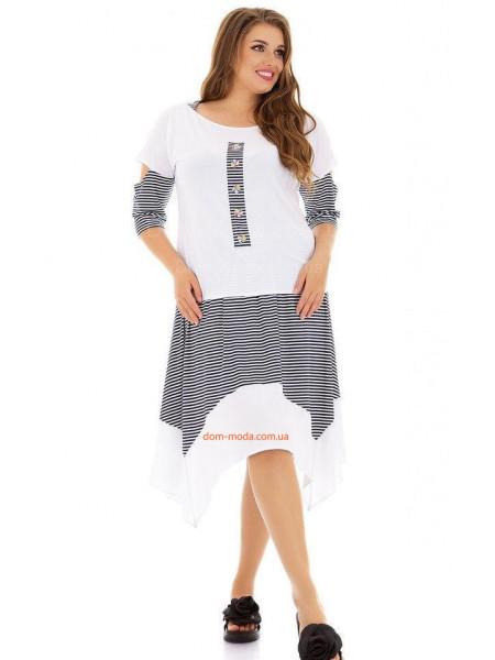 Жіночий літній костюм зі спідницею