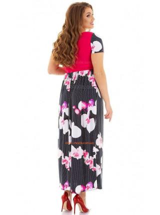 Женское длинное платье за колено большого размера