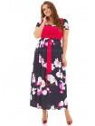 Жіноча довга сукня за коліно великого розміру