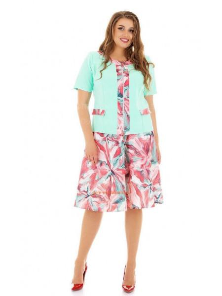 Легкий костюм літній зі спідницею