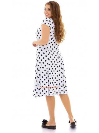 Платье женское большого размера в горох