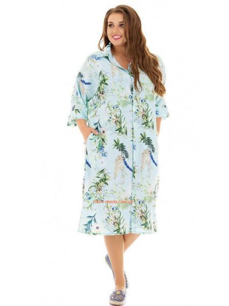 Платье рубашка для пышных девушек