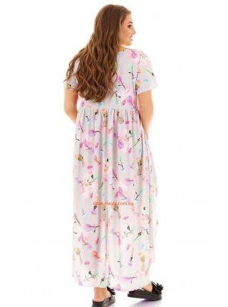 Жіноче асиметричне плаття для повних