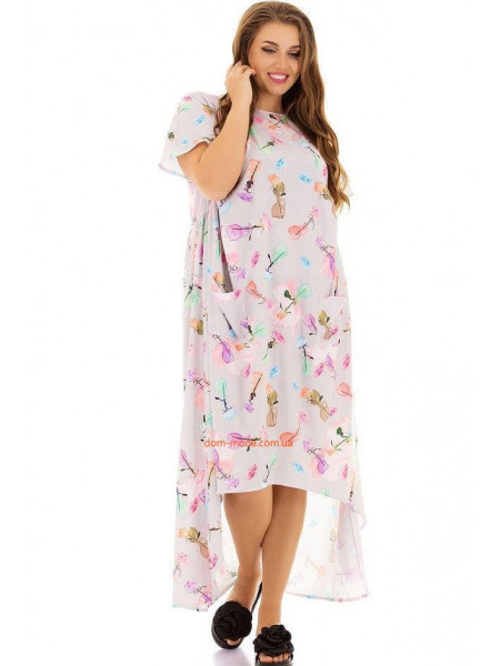 Женское асимметричное платье для полных