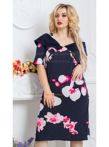 Платье летнее батал в принт