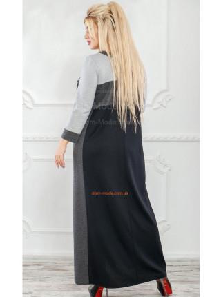 Тепле максі плаття великого розміру