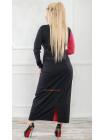 Длинное трикотажное платье для девушек с формами