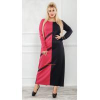 Довге трикотажне плаття для дівчат з формами