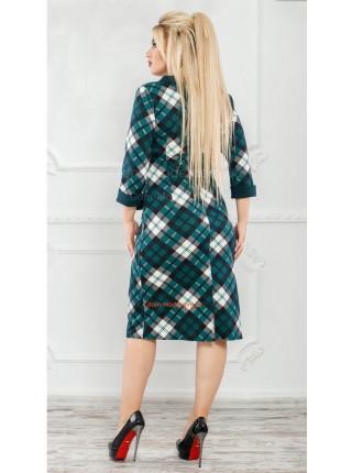 Модное платье для полных в клетку
