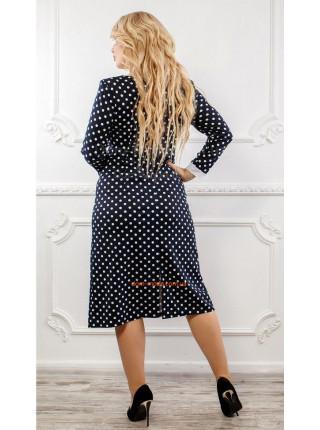 Платье женское для полных женщин в горошек