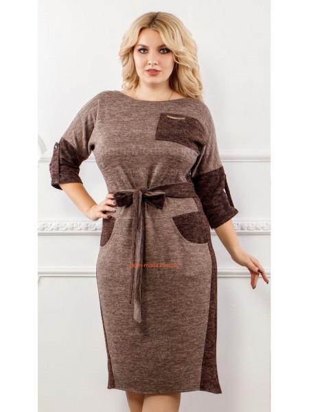 КУПИТИ ОНЛАЙН КУПИТИ ОНЛАЙН. Тепле коричневе плаття великого розміру ... 6978350a6a9d8