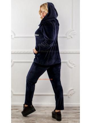 Спортивний костюм батального розміру із капюшоном