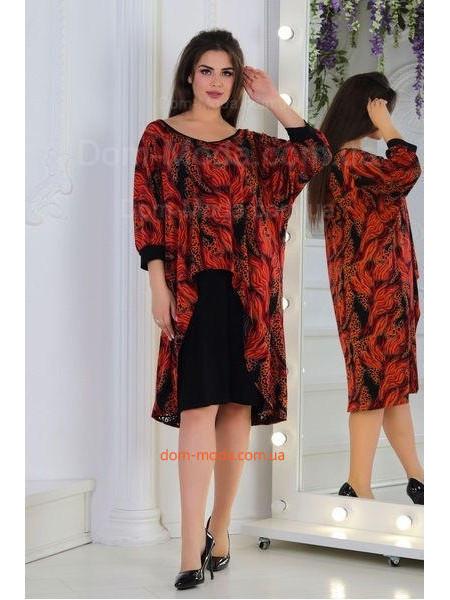 Красивое женское платье для полных женщин