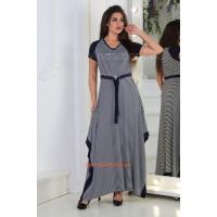 Жіноча довга сукня в полоску великого розміру