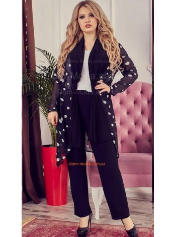 ddb8ea29ac1ffe Жіночий нарядний костюм двійка великого розміру купити за 830 грн UB ...