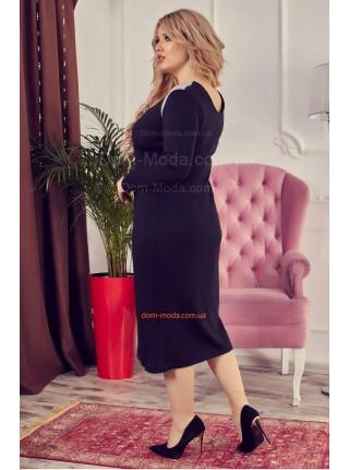 Стильное женское платье с рукавом для полных девушек