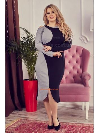 Стильне жіноче плаття із рукавом для повних дівчат