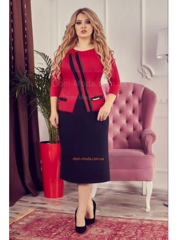 Стильное платье с рукавом для пышных женщин