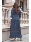 Стильное платье в горошек для полных женщин