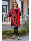 Модный костюм с лосинами и кардиганом большого размера