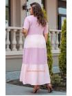 Льняное макси платье большого размера