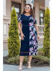 Стильное платье с цветочным принтом для полных девушек