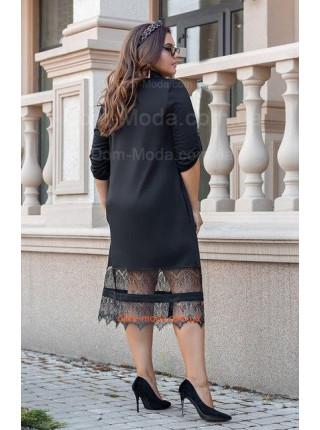 Нарядное платье рубашка для полных женщин