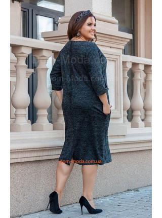 Красивое теплое платье из ангоры большого размер