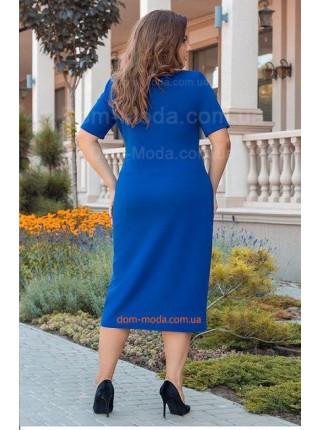 Красивое женское платье на запах большого размера