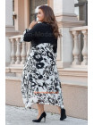Модний жіночий сарафан із накидкою для повних
