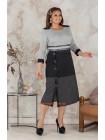 Женское стильное платье с пуговицами большого размера