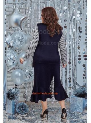 Женский костюм с юбкой и блузкой для полных женщин