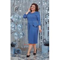 Красивое голубое женское платье большого размера