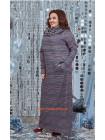 Стильне максі плаття в принт із хомутом великого розміру