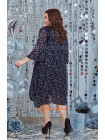 Жіноче нарядне плаття в принт для повних жінок