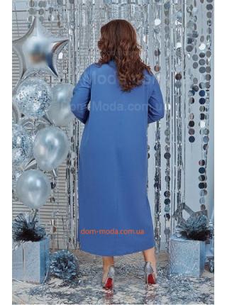 Спортивное женское платье со стразами большого размера